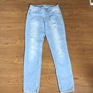 Justice Premium Light Blue Distress Jeans Size 12R